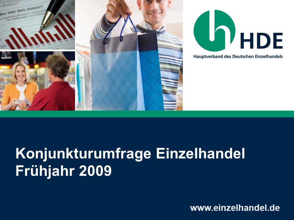 Konjunkturumfrage Einzelhandel Frühjahr 2009 www.einzelhandel.de