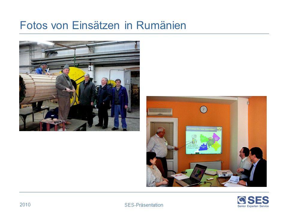 2010 SES-Präsentation Fotos von Einsätzen in Rumänien