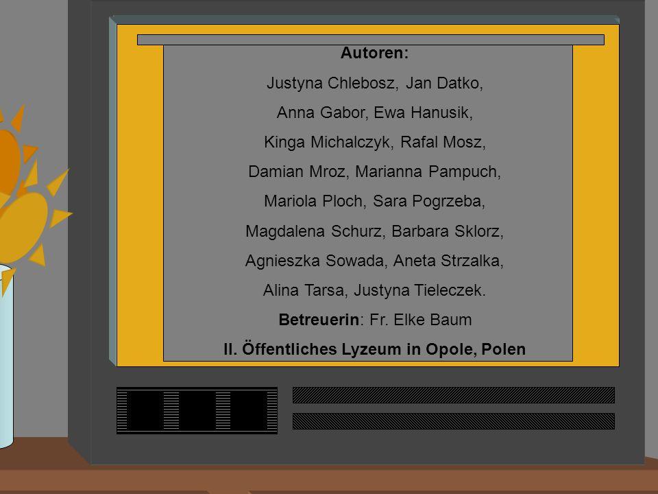 Autoren: Justyna Chlebosz, Jan Datko, Anna Gabor, Ewa Hanusik, Kinga Michalczyk, Rafal Mosz, Damian Mroz, Marianna Pampuch, Mariola Ploch, Sara Pogrze