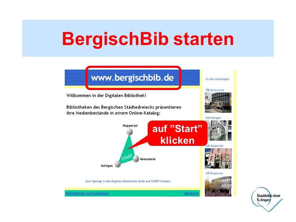 BergischBib starten auf Start klicken