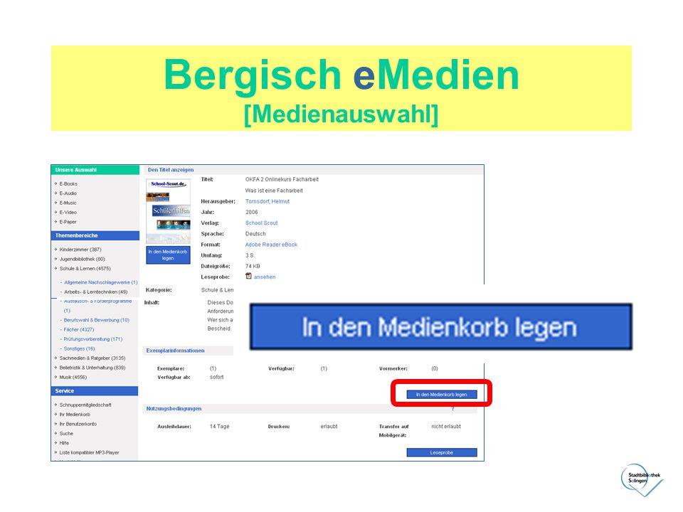 Bergisch eMedien [Medienauswahl]