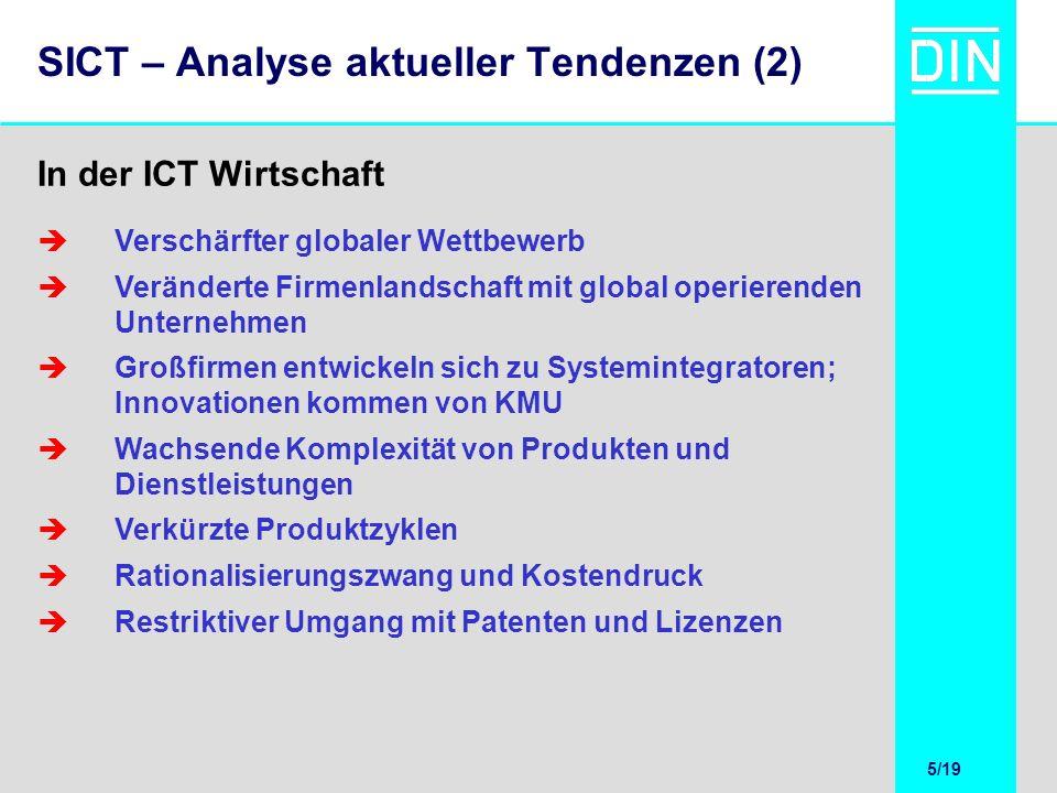 5/20 5/19 SICT – Analyse aktueller Tendenzen (2) Verschärfter globaler Wettbewerb Veränderte Firmenlandschaft mit global operierenden Unternehmen Groß