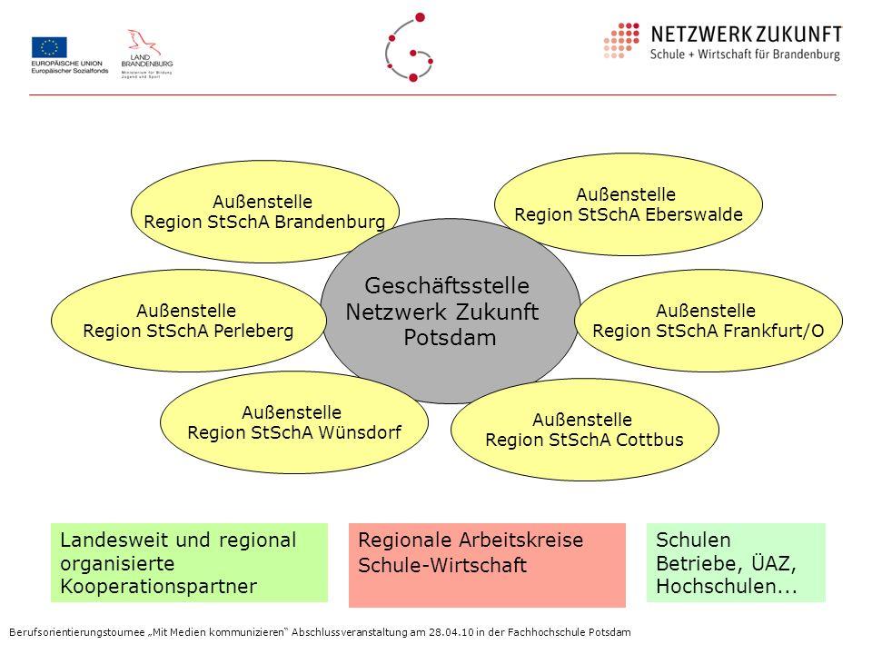 Außenstelle Region StSchA Brandenburg Außenstelle Region StSchA Eberswalde Geschäftsstelle Netzwerk Zukunft Potsdam Außenstelle Region StSchA Perleber