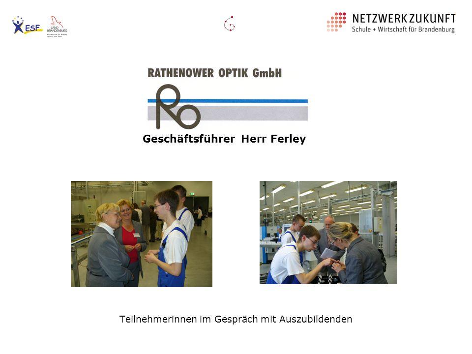 Das Rathenower Unternehmen beschäftigt: - 499 Frauen, - 168 Männer sowie derzeit - 17 Auszubildende - In jedem Jahr können bis zu 14 neue Azubis eingestellt werden.