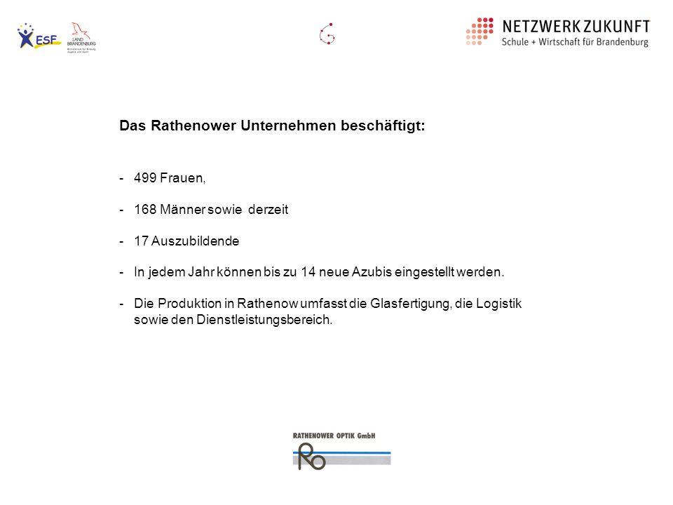 Die Rathenower Optik GmbH erhielt 2007 die Auszeichnung Anerkannter Ausbildungsbetrieb.