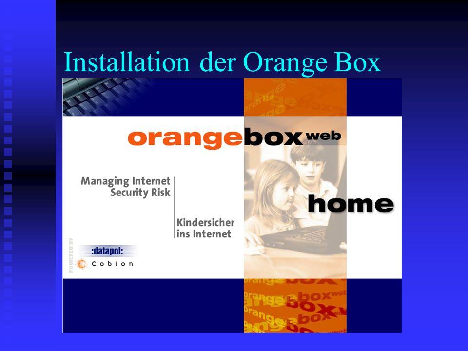 Installation der Orange Box