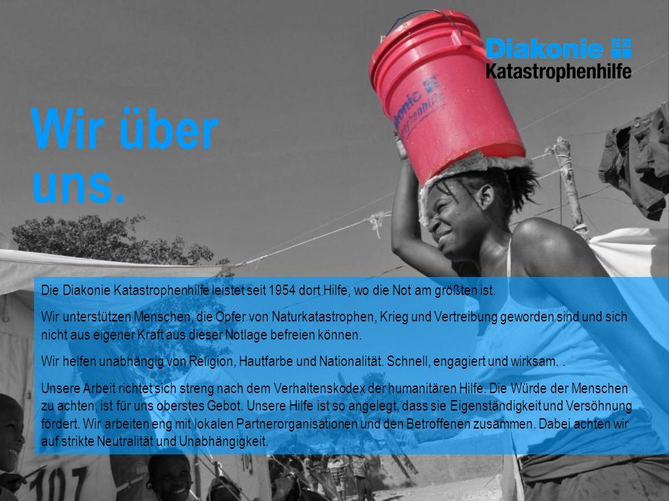 Die Diakonie Katastrophenhilfe leistet seit 1954 dort Hilfe, wo die Not am größten ist. Wir unterstützen Menschen, die Opfer von Naturkatastrophen, Kr