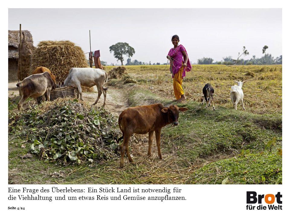 Seite 4/24 Eine Frage des Überlebens: Ein Stück Land ist notwendig für die Viehhaltung und um etwas Reis und Gemüse anzupflanzen.