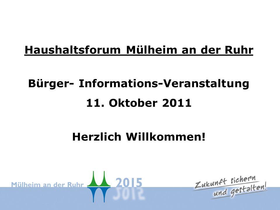 Haushaltsforum Mülheim an der Ruhr Bürger- Informations-Veranstaltung 11.