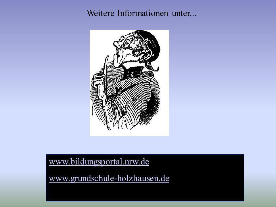 www.bildungsportal.nrw.de www.grundschule-holzhausen.de Weitere Informationen unter...