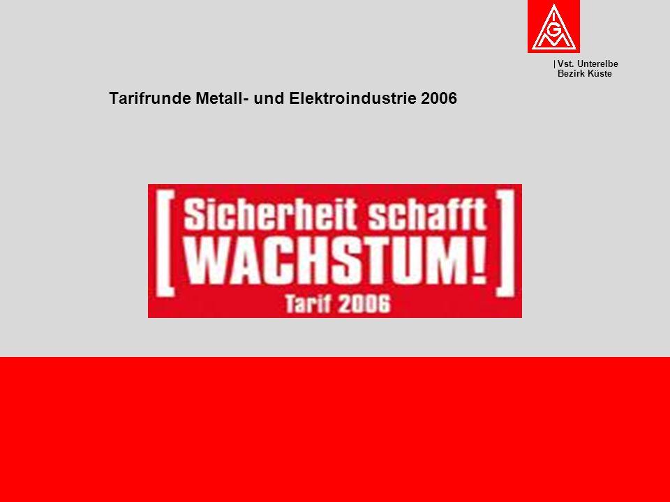 Vst. Unterelbe Bezirk Küste Tarifrunde Metall- und Elektroindustrie 2006