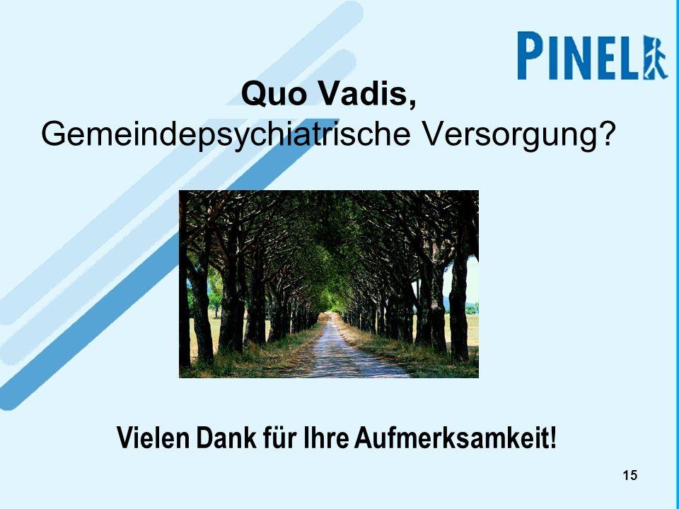 15 Quo Vadis, Gemeindepsychiatrische Versorgung? Vielen Dank für Ihre Aufmerksamkeit!