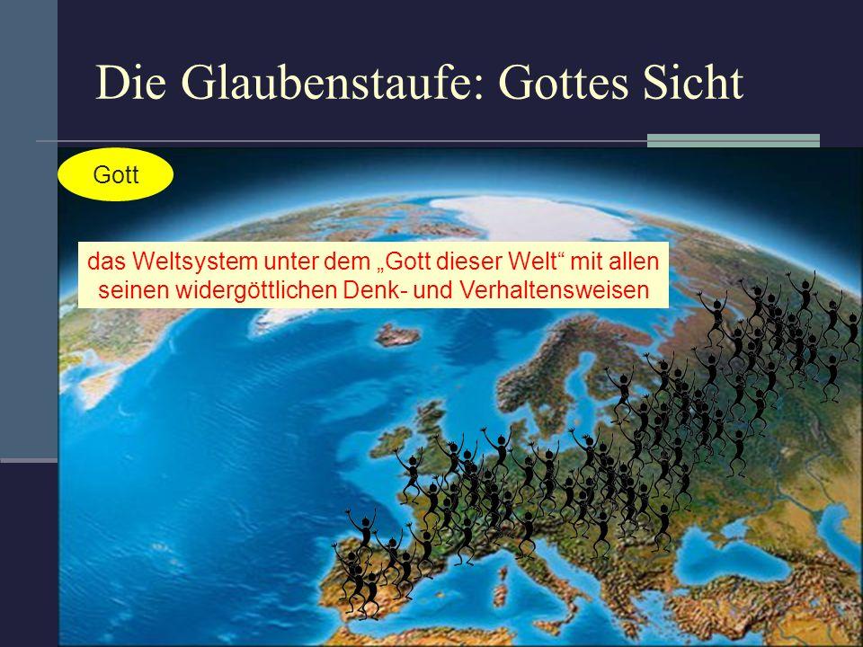 Die Glaubenstaufe: Gottes Sicht Gott das Weltsystem unter dem Gott dieser Welt mit allen seinen widergöttlichen Denk- und Verhaltensweisen