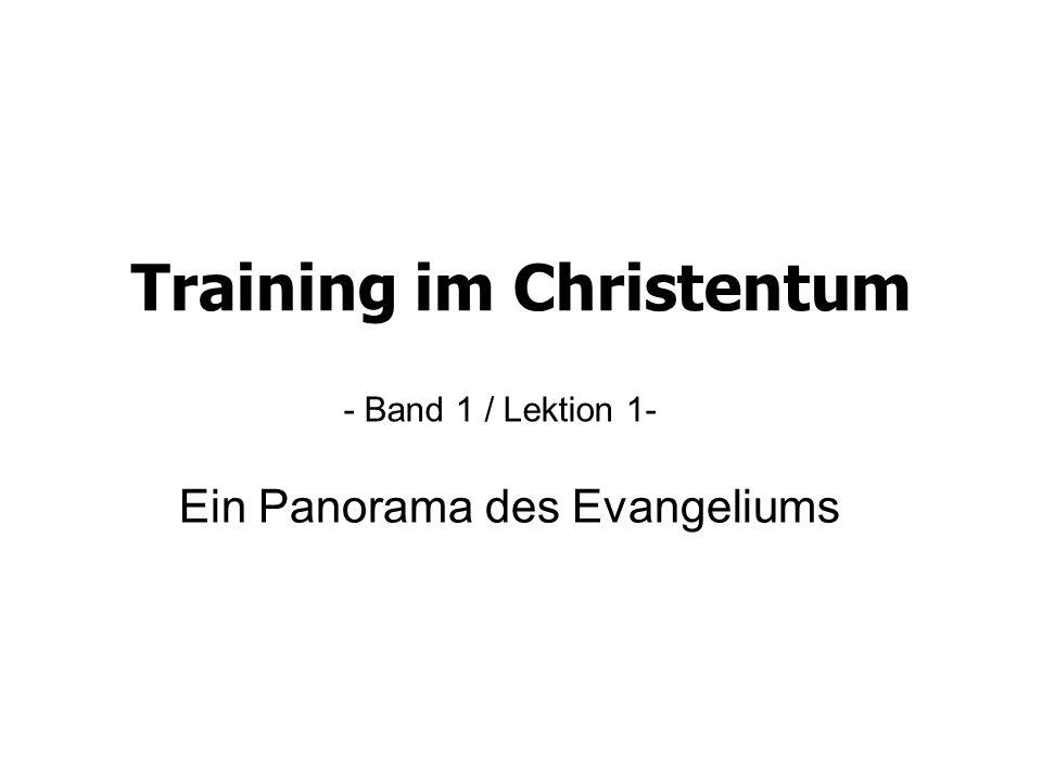 Lektion 1 - Ein Panorama des Evangeliums Im Schöpfungsbericht Im Leben jedes Wiedergeborenen Gott sprach: Es werde Licht (1.