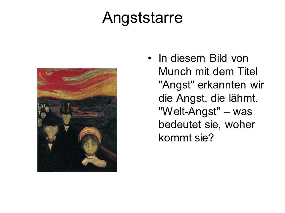 Angststarre In diesem Bild von Munch mit dem Titel