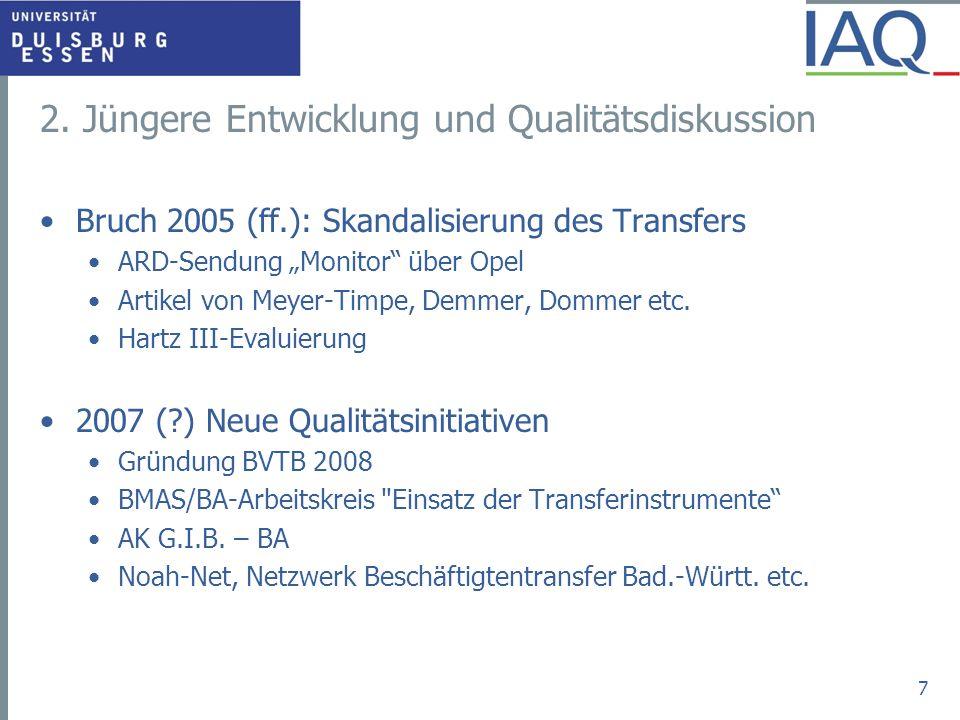 2. Jüngere Entwicklung und Qualitätsdiskussion Bruch 2005 (ff.): Skandalisierung des Transfers ARD-Sendung Monitor über Opel Artikel von Meyer-Timpe,