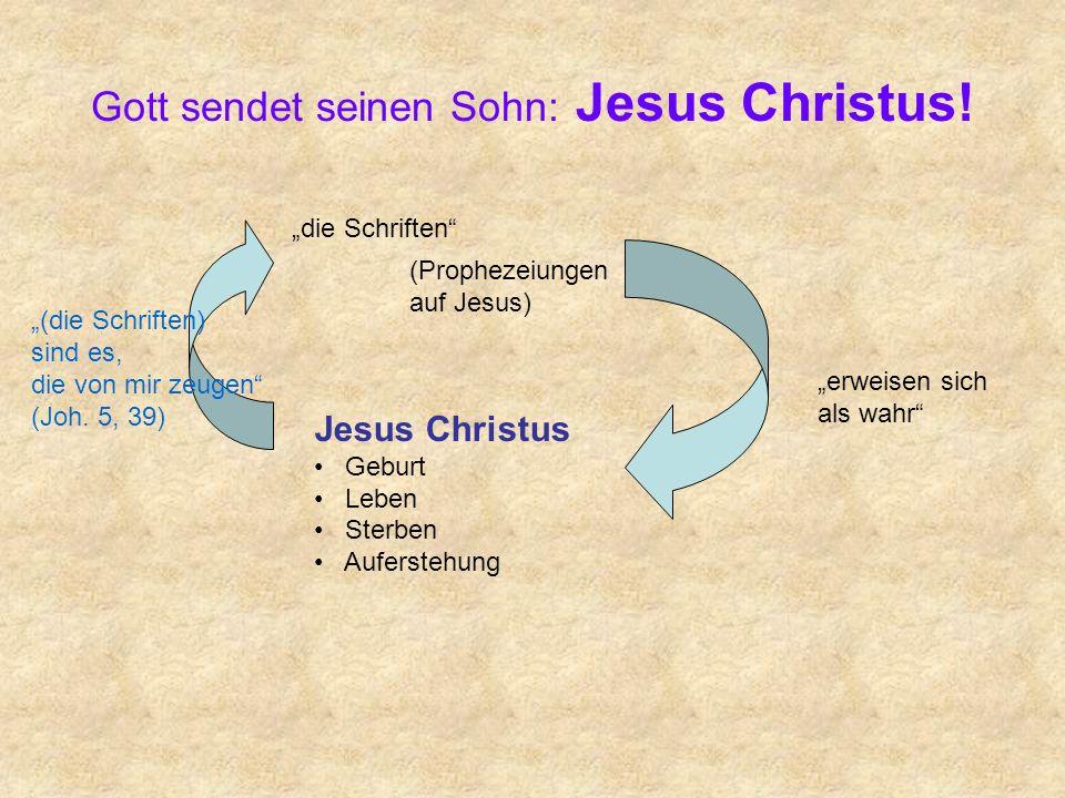 Gott sendet seinen Sohn: Jesus Christus! die Schriften Jesus Christus Geburt Leben Sterben Auferstehung erweisen sich als wahr (Prophezeiungen auf Jes