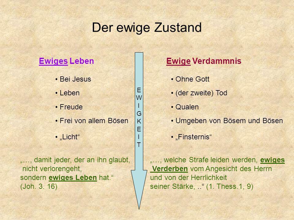 Ewige Verdammnis ewiges Verderben (1.Thess.