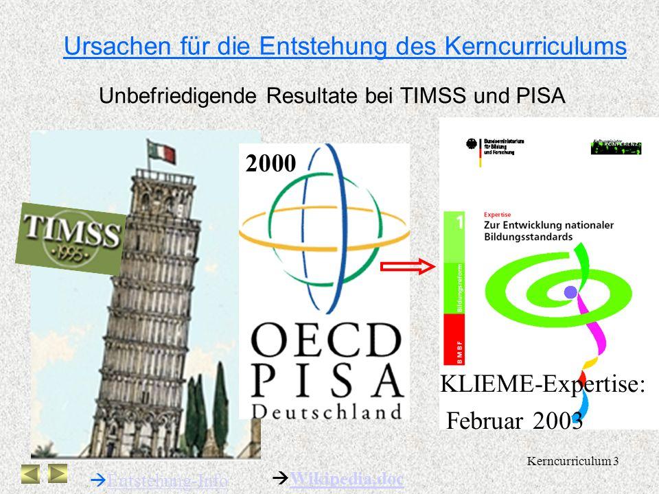 Kerncurriculum 2 Seit 1989: RRL Gym. 7-10 Seit 1989: RRL OS 5-6 2003: neue RRL 7-10 Bausteinkonzept mit Doppeljahrgängen 2004: curriculare Vorgaben 5-