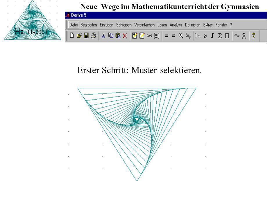 Neue Wege im Mathematikunterricht der Gymnasien Ha, 11-2001 Wie kann man dieses Bild erzeugen