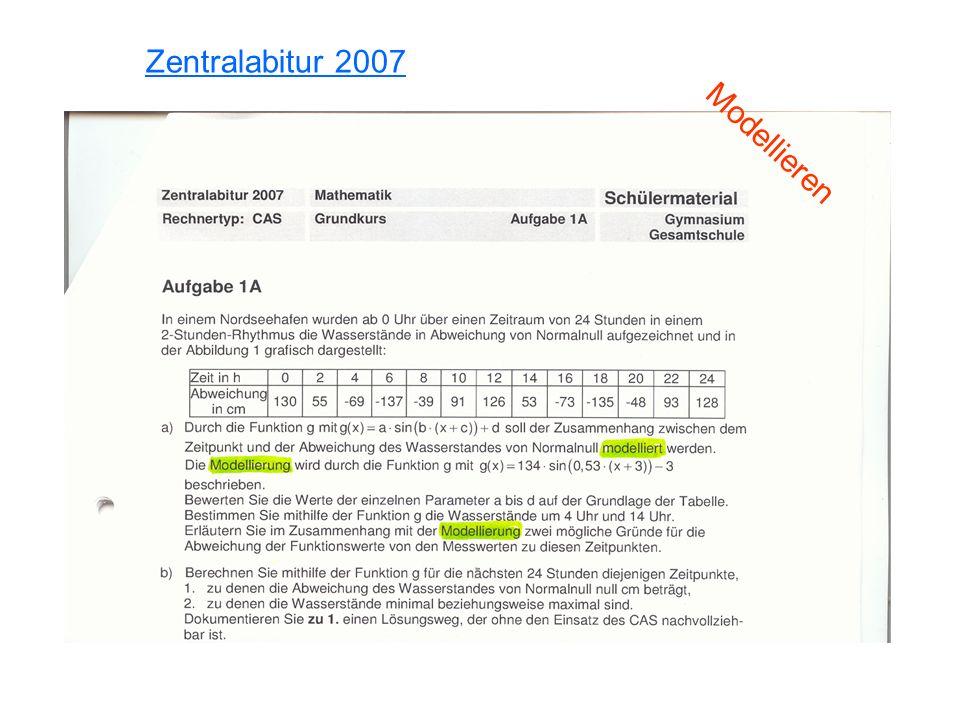 Zentralabitur 2007 Modellieren
