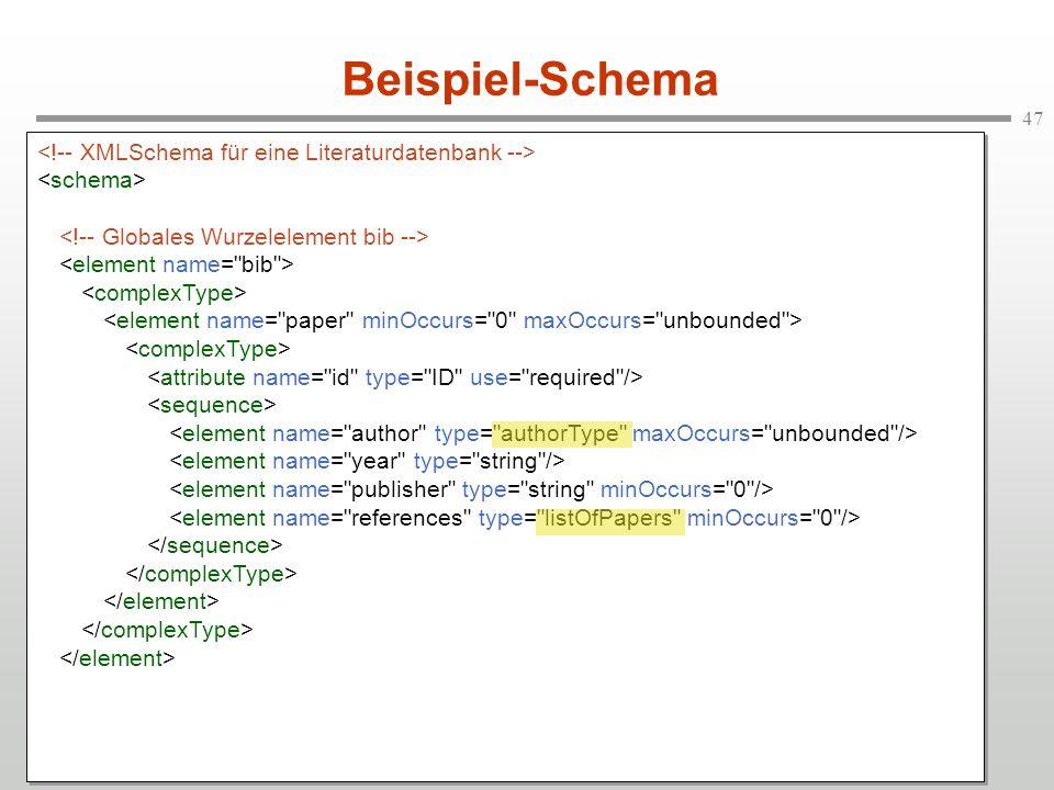 47 Beispiel-Schema