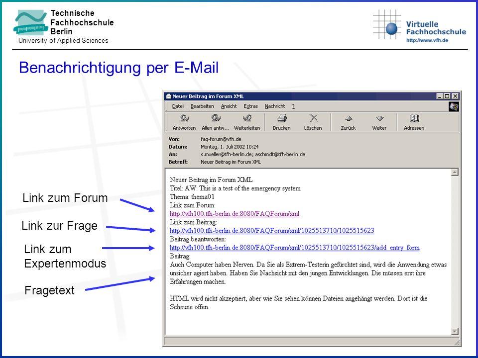 Technische Fachhochschule Berlin University of Applied Sciences Benachrichtigung per E-Mail Link zum Forum Link zur Frage Link zum Expertenmodus Fragetext