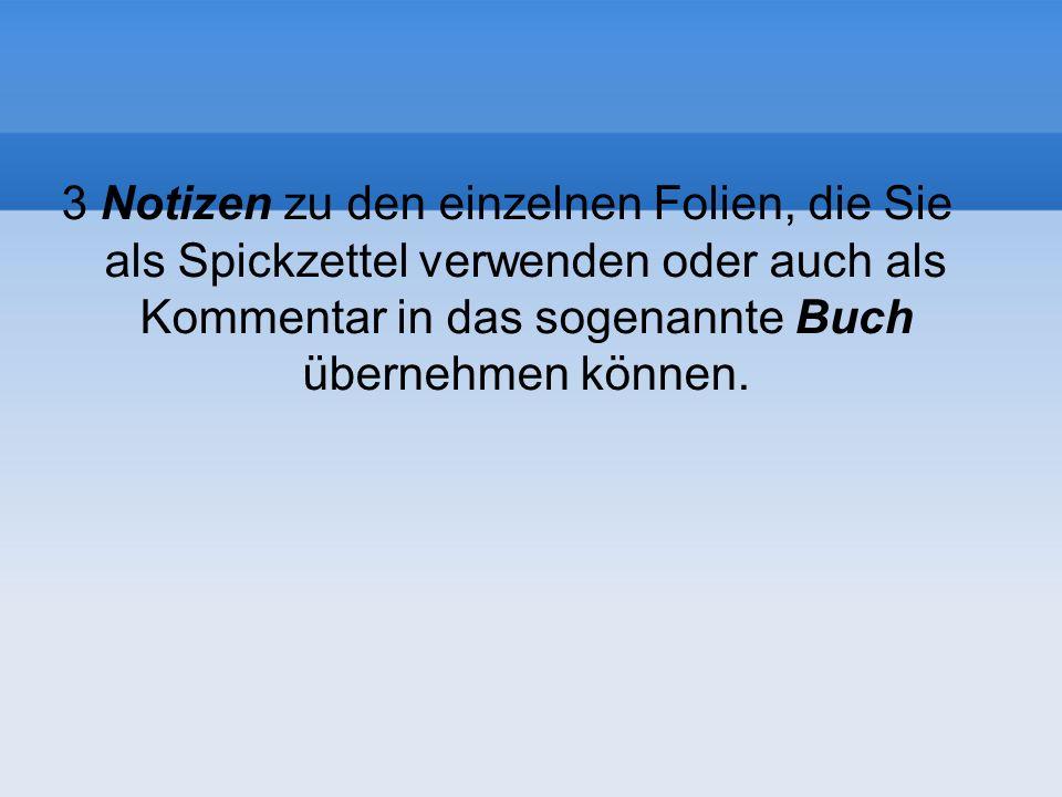 Folien, Notizen, Handzettel und Buch Erste FolieZweite FolieLetzte Folie...