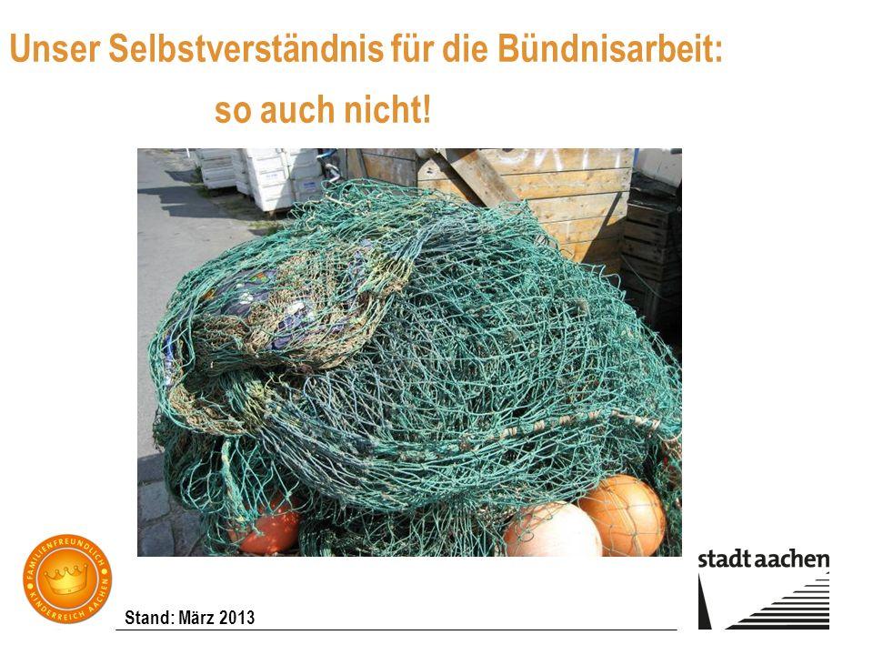 Stand: März 2013 Unser Selbstverständnis für die Bündnisarbeit: so auch nicht!