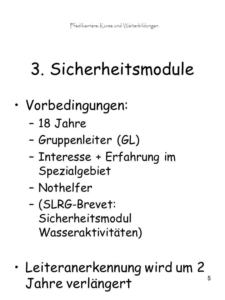 Pfadikarriere: Kurse und Weiterbildungen 5 3.