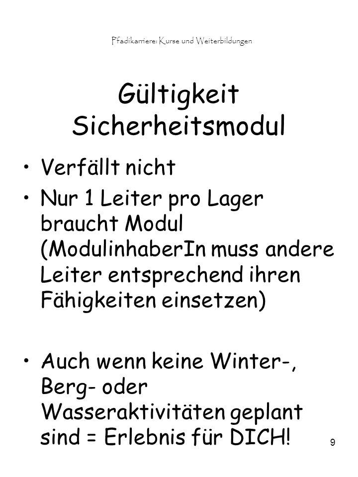 Pfadikarriere: Kurse und Weiterbildungen 10 4.