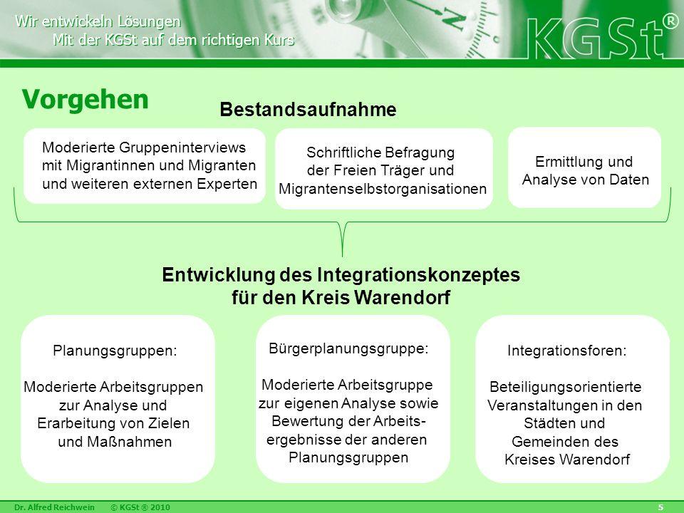 Wir entwickeln Lösungen Mit der KGSt auf dem richtigen Kurs Wir entwickeln Lösungen Mit der KGSt auf dem richtigen Kurs ® Dr. Alfred Reichwein © KGSt