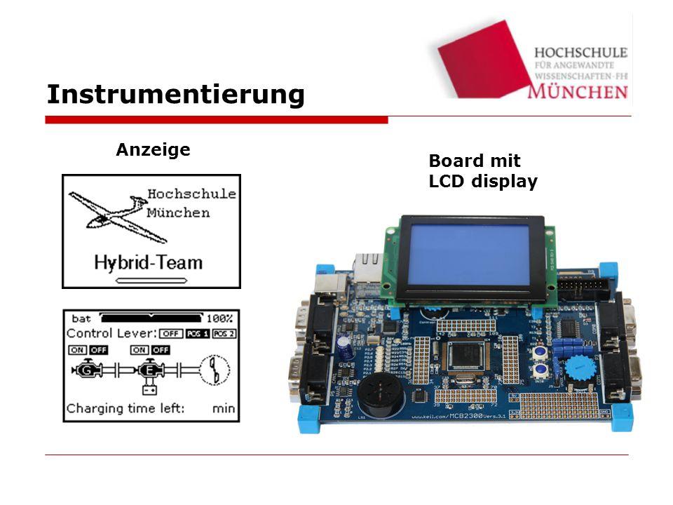 Instrumentierung Anzeige Board mit LCD display