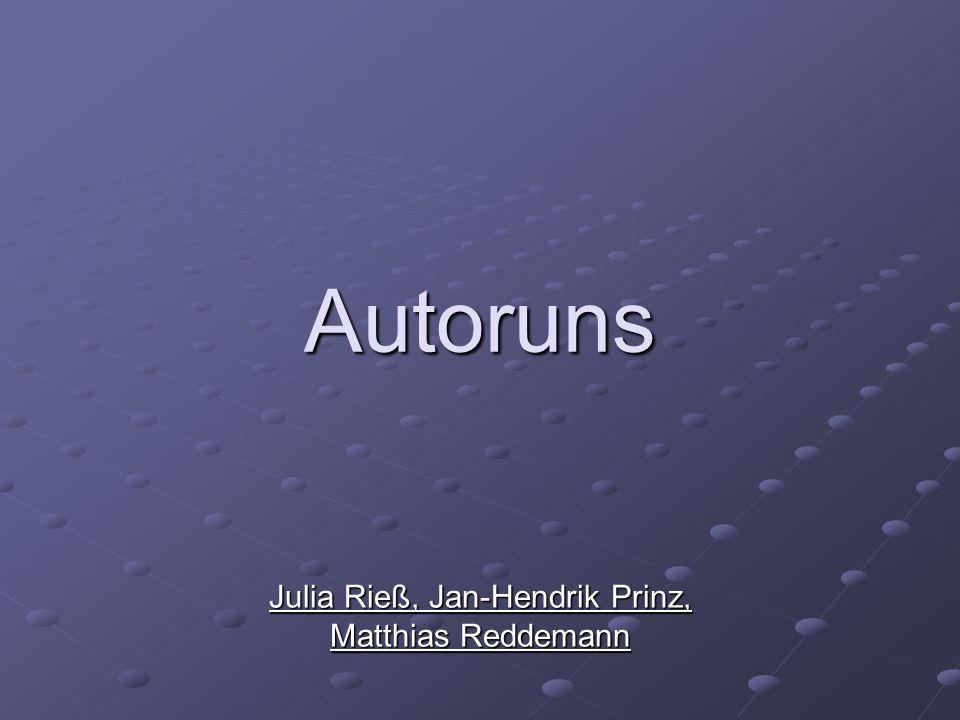 Autoruns Julia Rieß, Jan-Hendrik Prinz, Matthias Reddemann