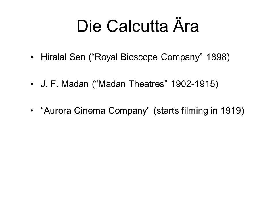 Die Calcutta Ära Hiralal Sen (Royal Bioscope Company 1898) J.