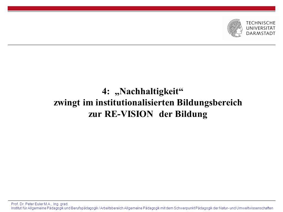 Prof. Dr. Peter Euler M.A., Ing. grad. Institut für Allgemeine Pädagogik und Berufspädagogik / Arbeitsbereich Allgemeine Pädagogik mit dem Schwerpunkt