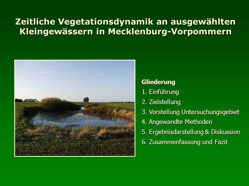 Zeitliche Vegetationsdynamik an ausgewählten Kleingewässern in Mecklenburg-Vorpommern Gliederung 1. Einführung 2. Zielstellung 4. Angewandte Methoden