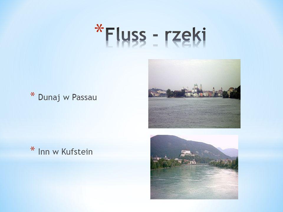 * Dunaj w Passau * Inn w Kufstein