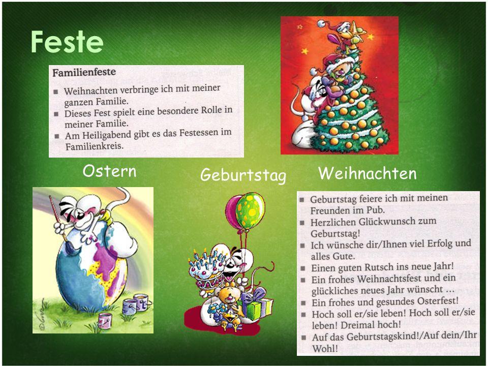 Familie und Gesellschaftsleben 24 Feste Ostern Geburtstag Weihnachten