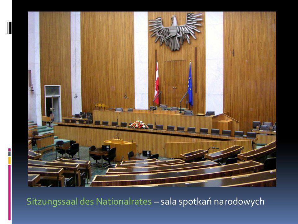 Sitzungssaal des Nationalrates – sala spotkań narodowych