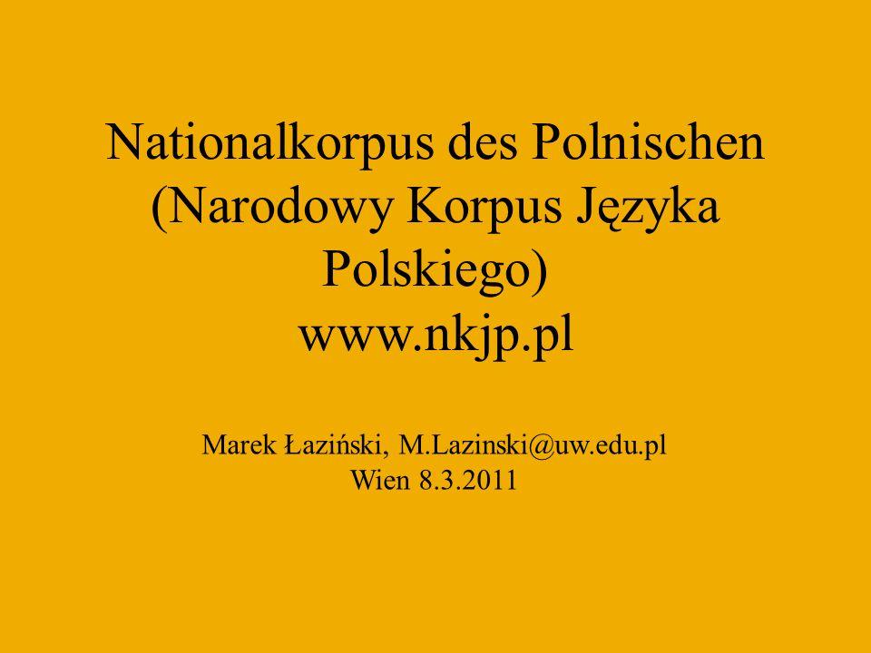 Vorgeschichte Słownik frekwencyjny polszczyzny współczesnej – Kurcz et al.