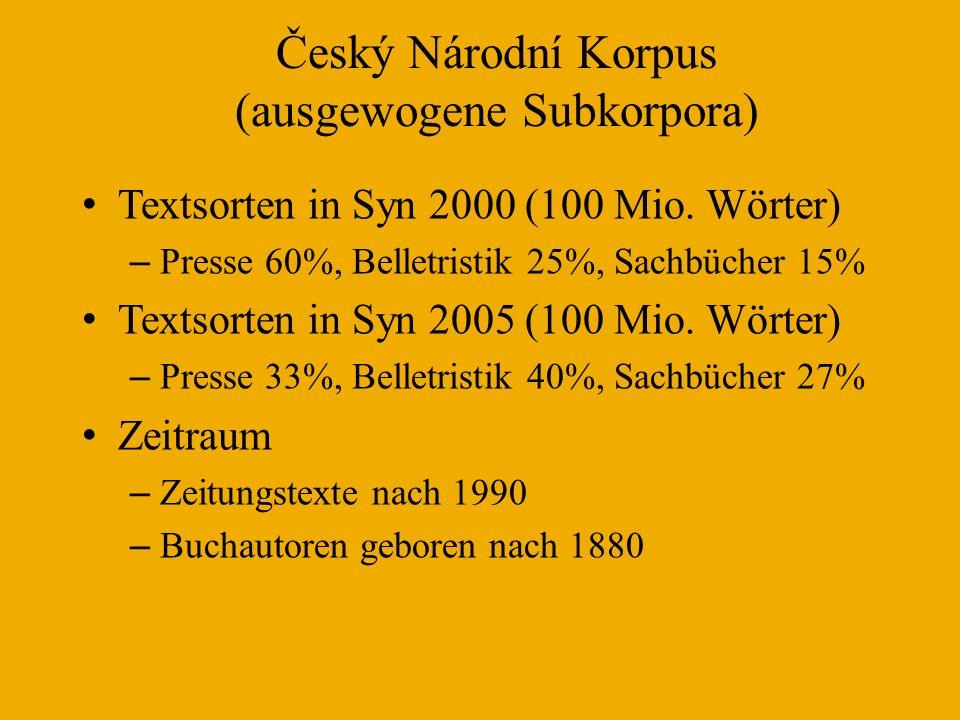 Korpus des slovenischen FIDA Plus Textarten – Presse – 88%, Bücher (auch Übersetzungen) 9%, Rest (Internet) – 3% Inhalt – Belletristik – 3,5%, Rest – 96,5% Zeiträume – 1990-1999 – 30% (1979-1990 – 0,04%) – 2000-2006 – 70%
