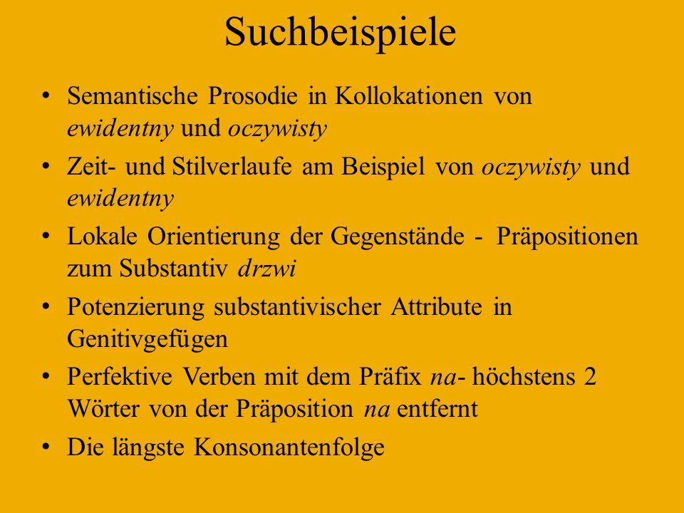 Semantische Prosodie: oczywisty - ewidentny Oczywisty: fakt, przyczyna, stwierdzenie, am häufigsten prädikativ benutzt: to jest oczywiste).
