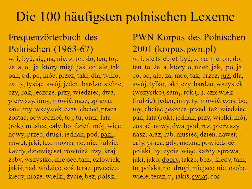Vorgänger und Teilkorpora des NKJP Korpus des Instituts für Informatik der AW / PAN (in Zusammenarbeit mit dem Institut der Polnischen Sprache PAN): 250 Mio.