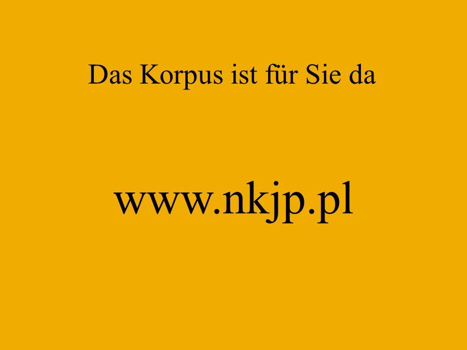 Das Korpus ist für Sie da www.nkjp.pl