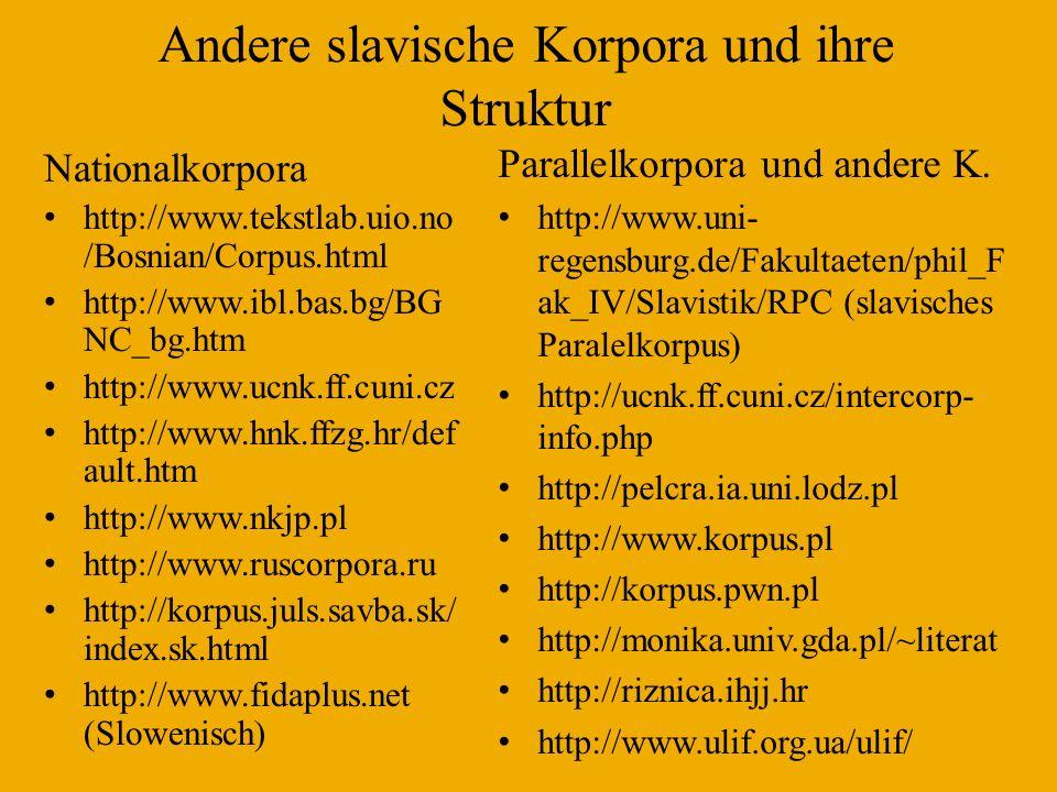 Český Národní Korpus (ausgewogene Subkorpora) Textsorten in Syn 2000 (100 Mio.