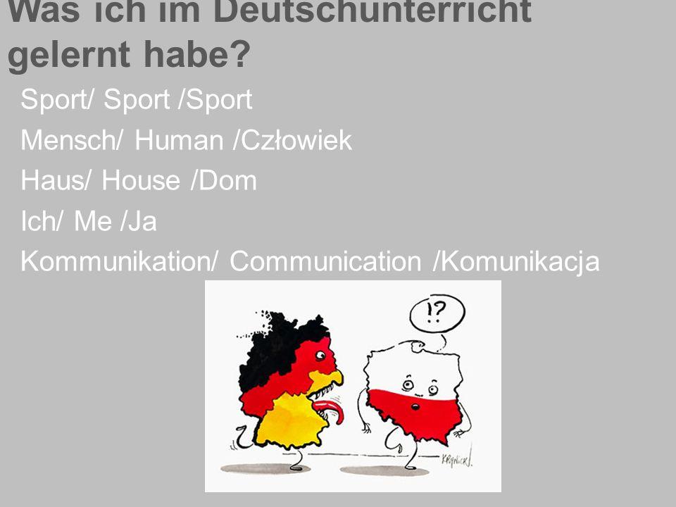 Was ich im Deutschunterricht gelernt habe.