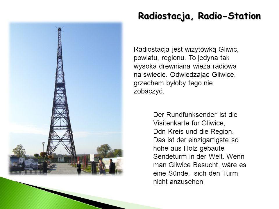 Radiostacja, Radio-Station Der Rundfunksender ist die Visitenkarte für Gliwice, Ddn Kreis und die Region. Das ist der einzigartigste so hohe aus Holz