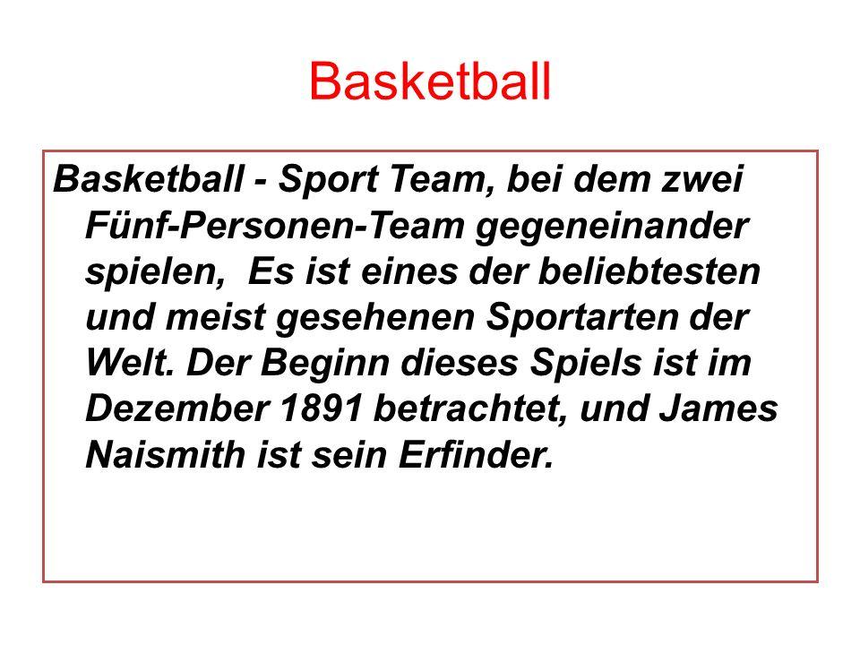 Basketball Basketball - Sport Team, bei dem zwei Fünf-Personen-Team gegeneinander spielen, Es ist eines der beliebtesten und meist gesehenen Sportarte