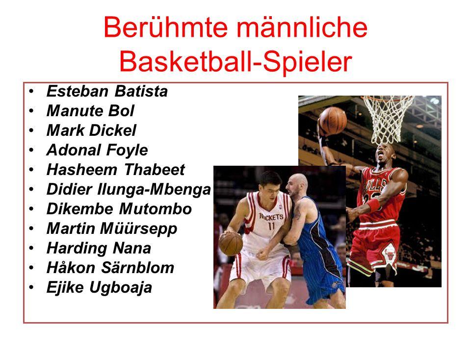 Berühmte männliche Basketball-Spieler Esteban Batista Manute Bol Mark Dickel Adonal Foyle Hasheem Thabeet Didier Ilunga-Mbenga Dikembe Mutombo Martin